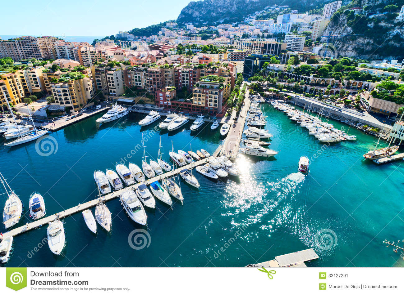 Download View on monaco harbor stock image. Image of elite, ship - 33127291