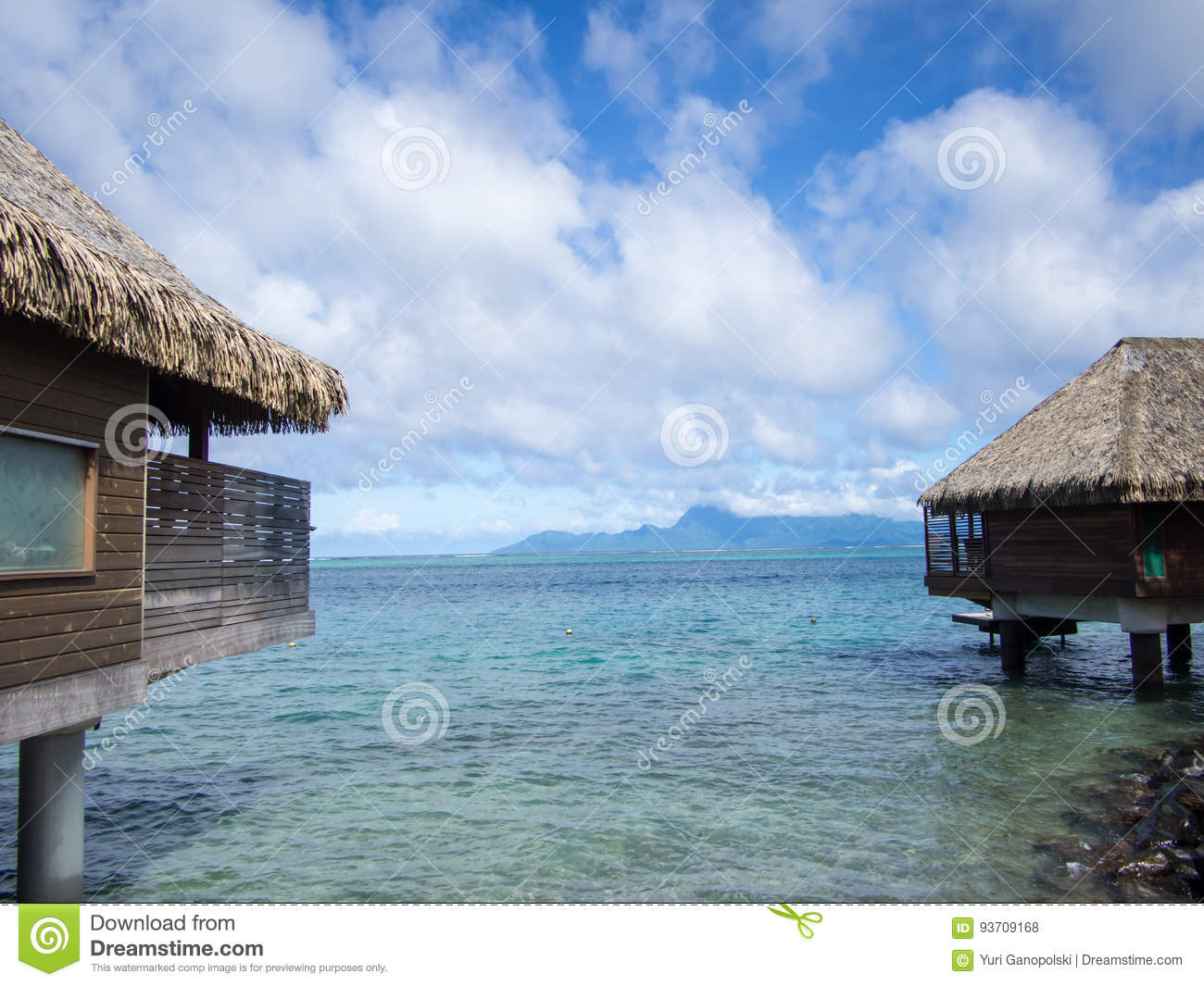 View Of Moorea Island From Intercontinental Resort And Spa