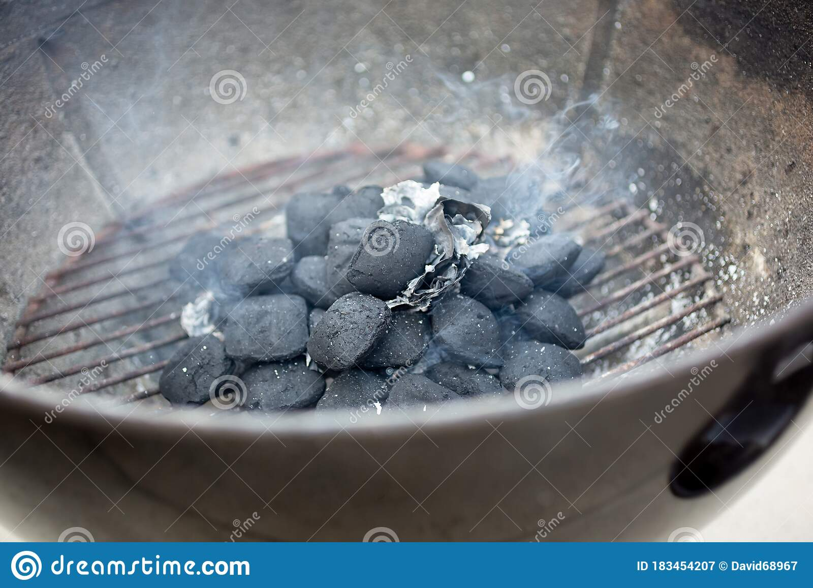 Charcoal Starting In Grill Stock Image Image Of Propane 183454207