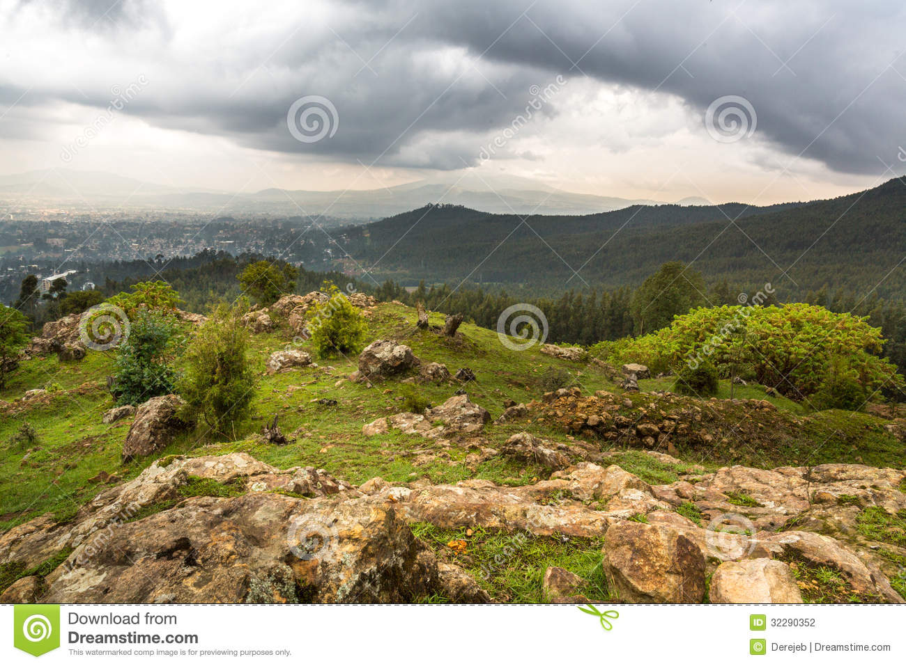 View From Mount Entoto Stock Photography Image 32290352
