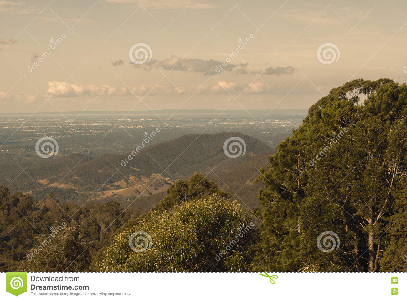 View from Mount Glorious near Brisbane, Queensland.
