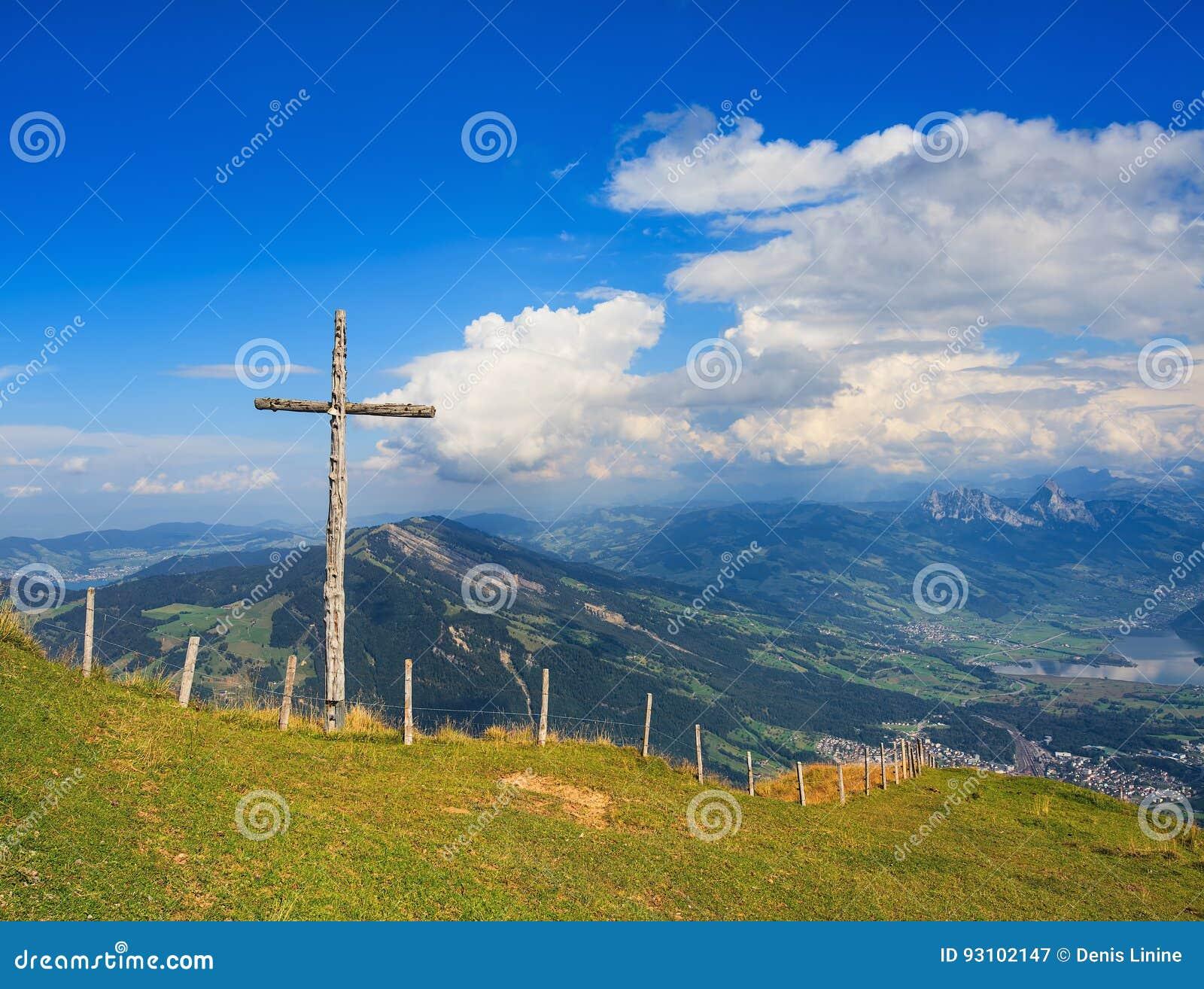view from mt rigi in switzerland stock image image of slope rigi