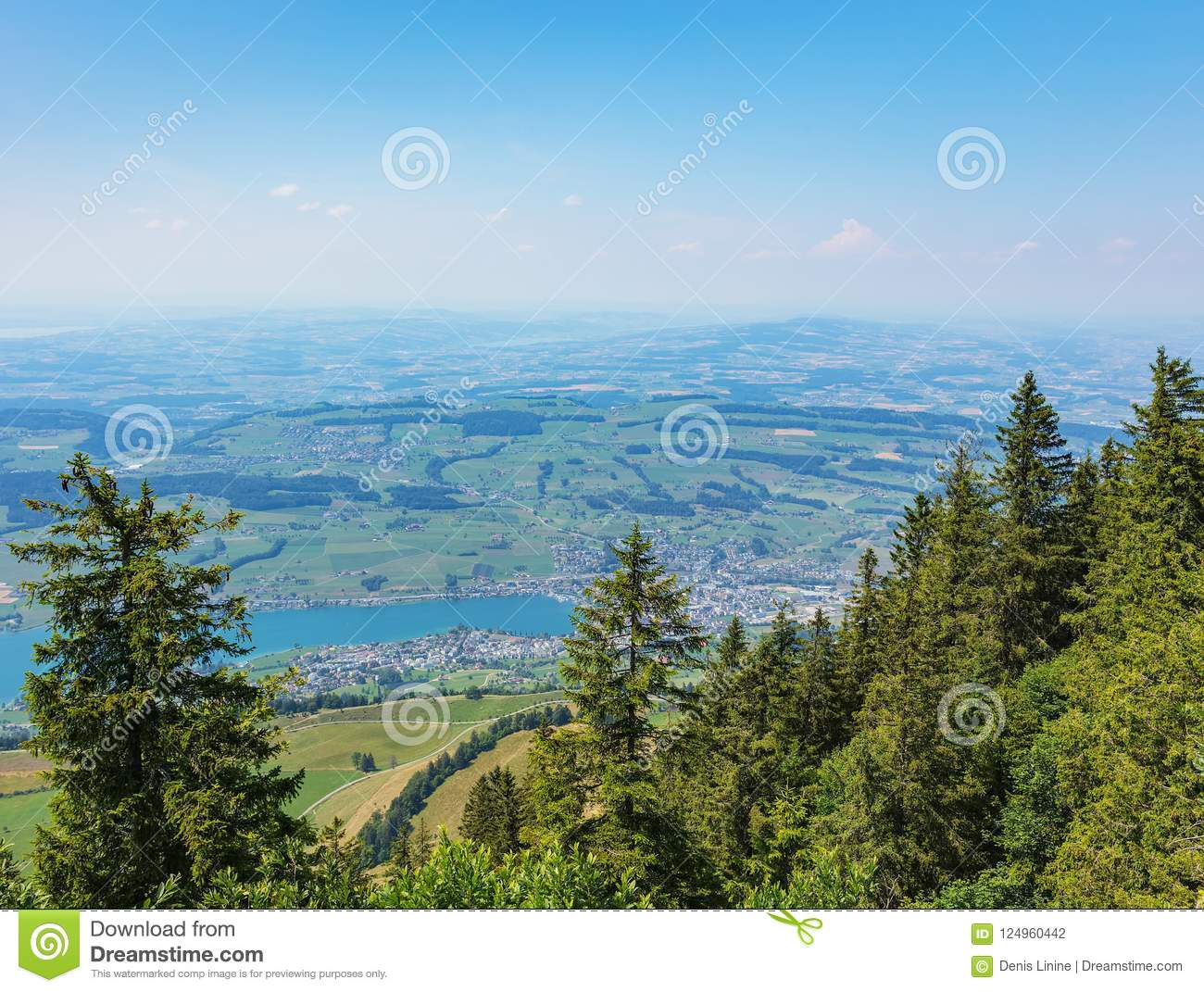 view from mt rigi in switzerland in summer stock photo image of