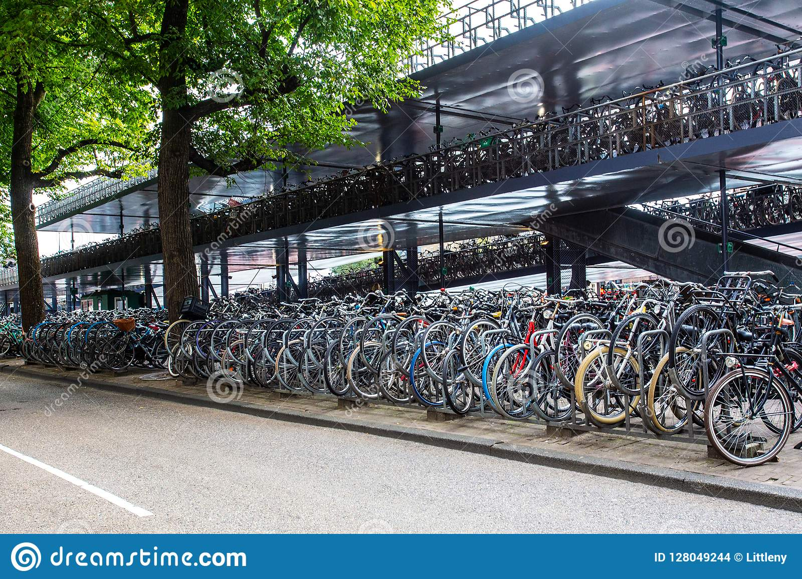 Bicycle Parking Amsterdam Central Station Editorial Stock