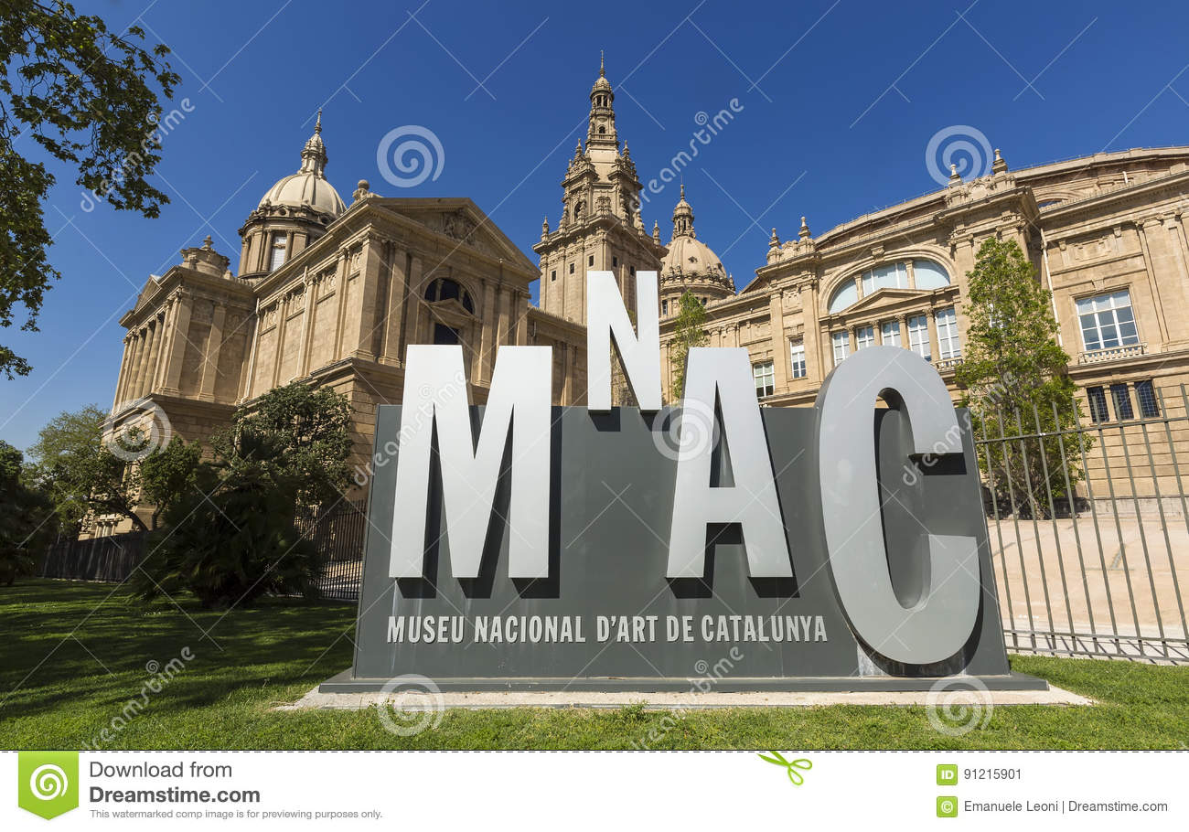 View of the Museu Nacional d`Art de Catalunya. MNAC is the national museum of Catalan visual art located in Barcelona, Catalonia,