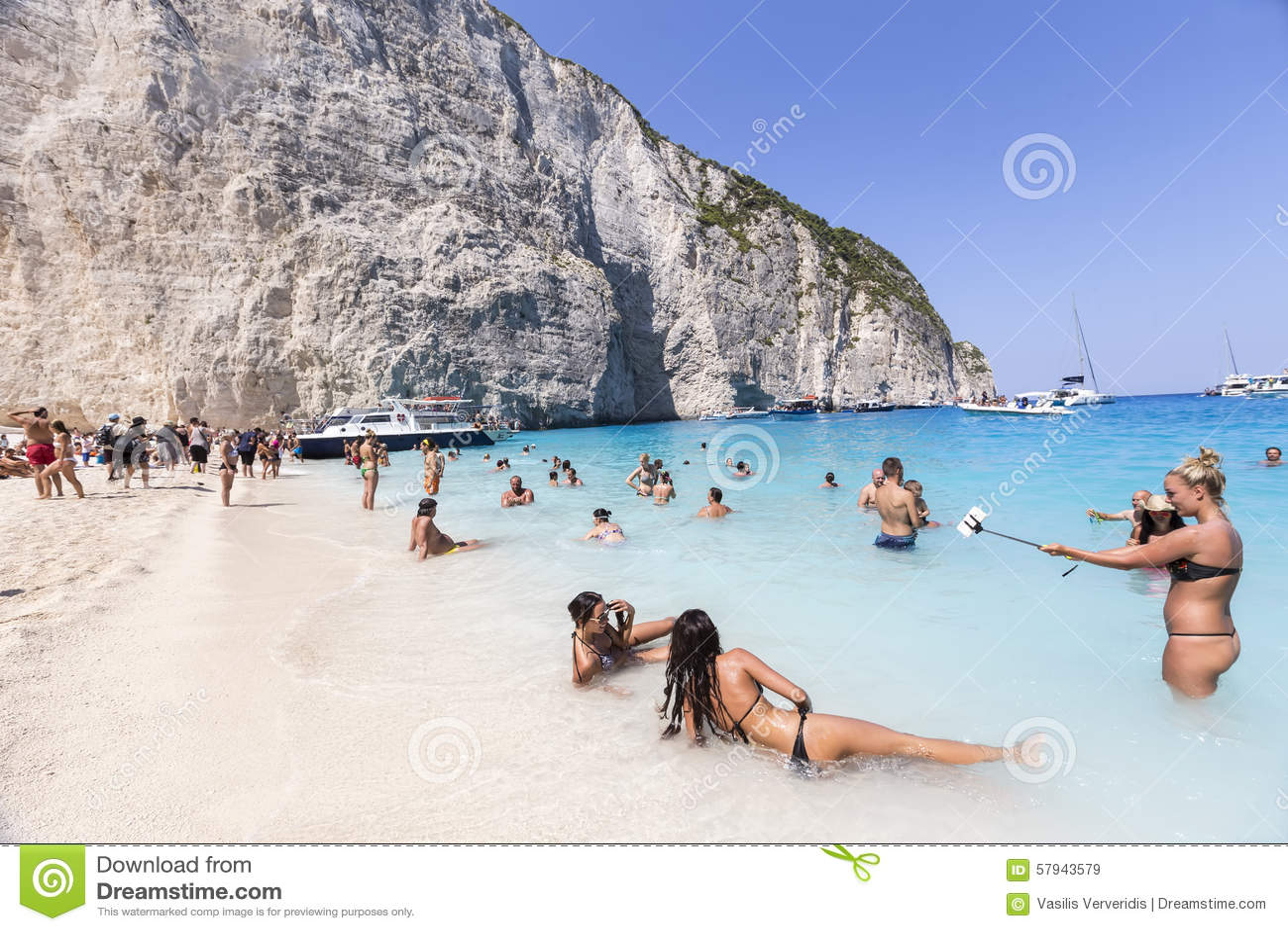 View Of Navagio Shipwreck Beach In Zakynthos