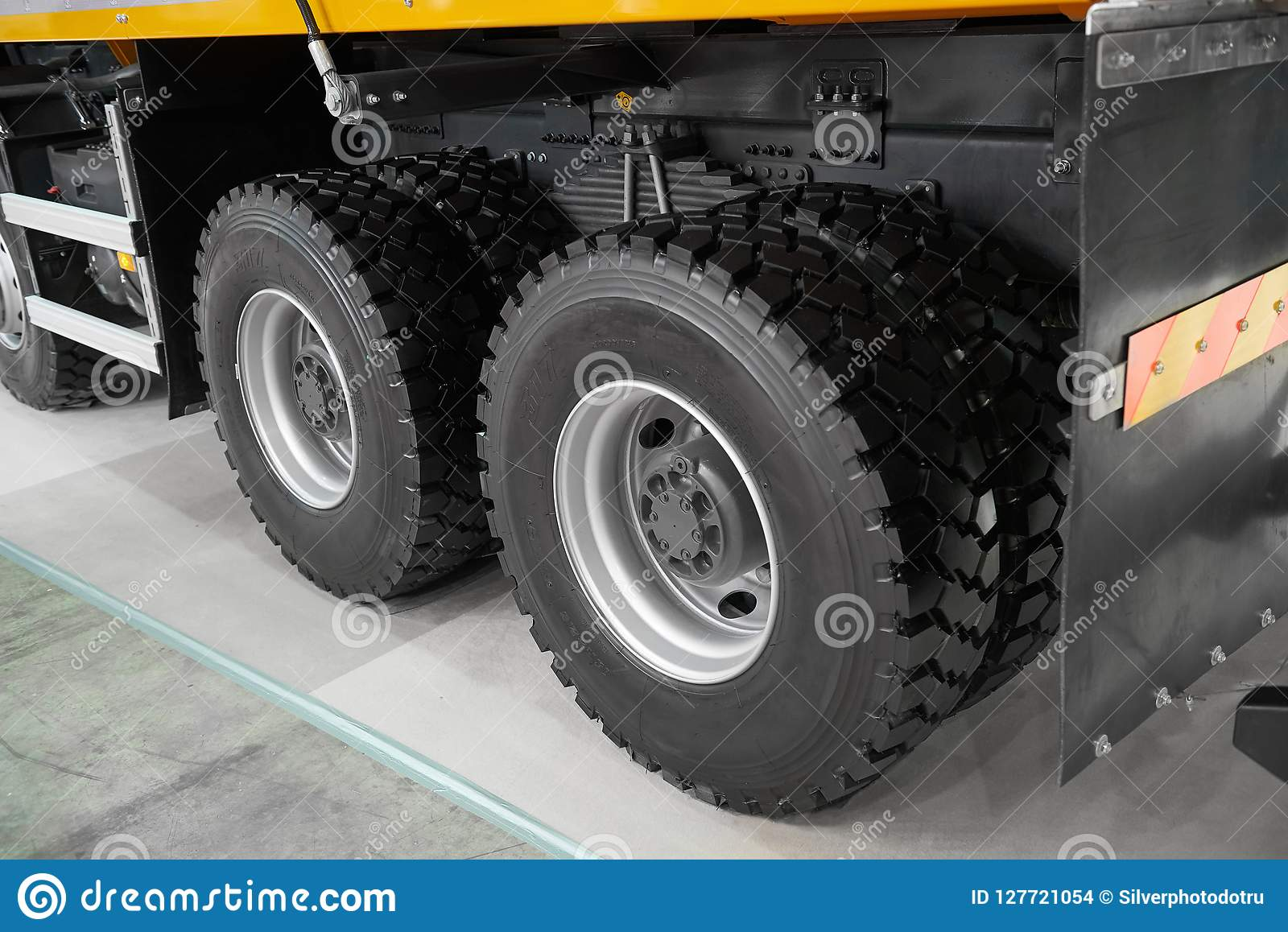 View On New Clean Rear Tipper Truck Wheels And Tires Mud Wheels For Commercial Transport Special Cars Truck Chassis With Wheels Stock Photo Image Of Europe Huge 127721054