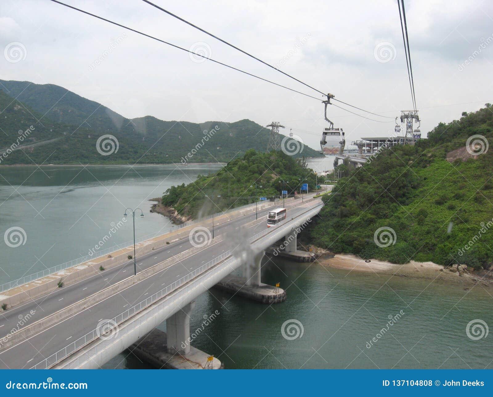View From Ngong Ping Cableway, Tung Chung, Lantau Island, Hong Kong