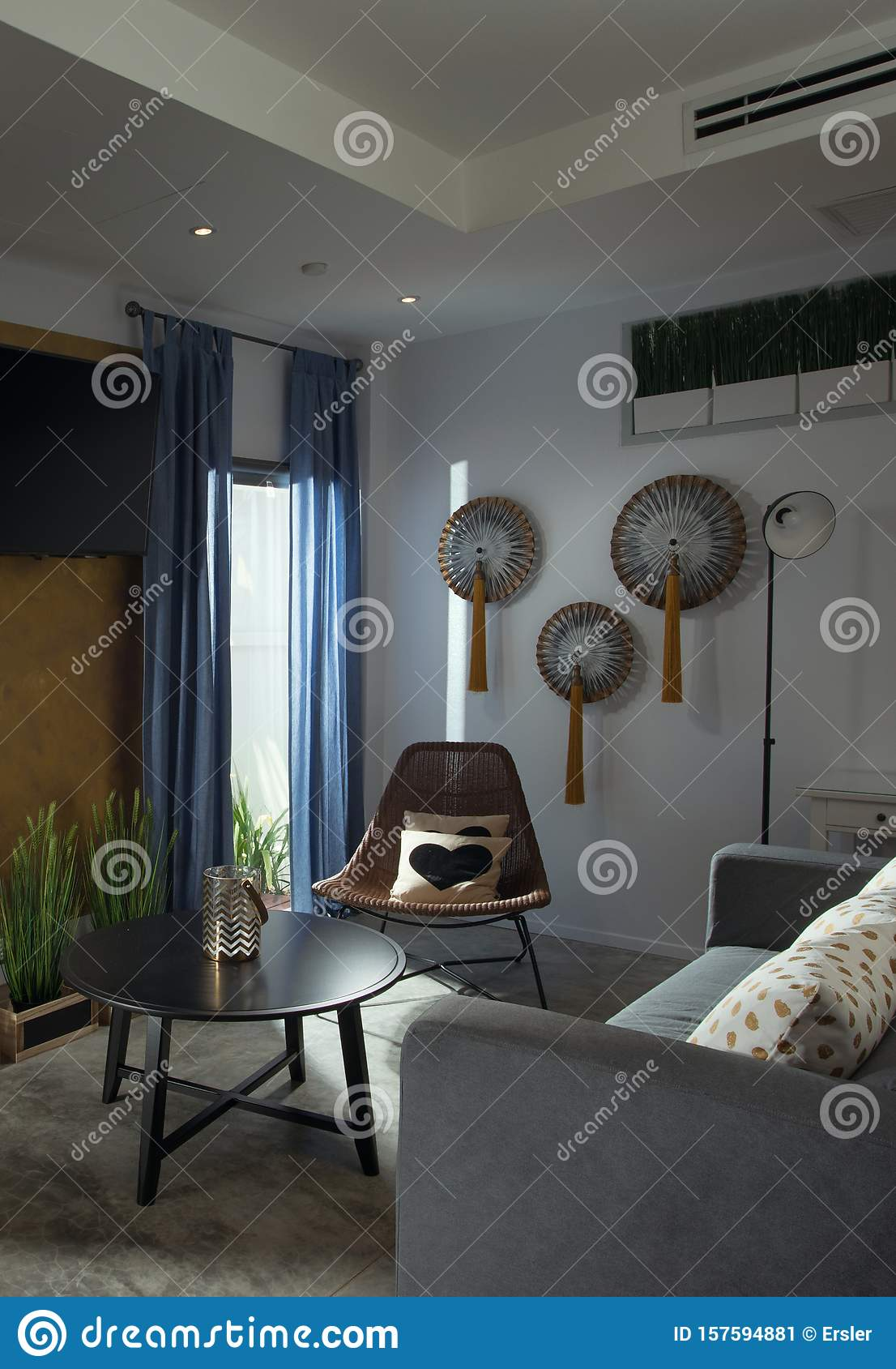 Contemporary Hotel Rooms: View Of Nice Stylish Modern Hotel Room Stock Image