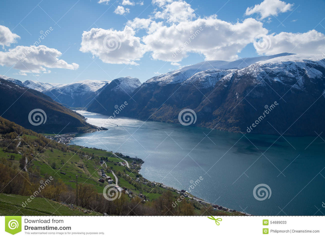 View of sognefjorden fjord at sogndal village norway royalty free stock image cartoondealer - The house on the rock the ultimate refuge in a norwegian fjord ...