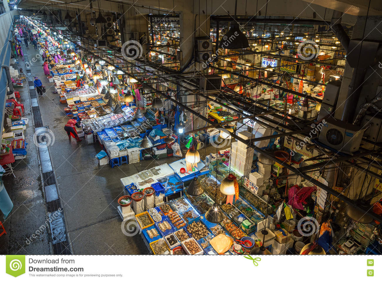 View Of Noryangjin Fish Market From Above In Seoul Editorial