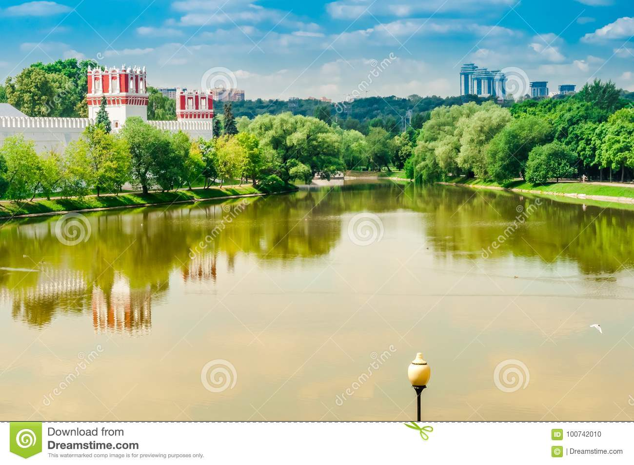 Monastero Novodevichy Moscow.View Of The Novodevichy Convent Monastery In Moscow Russia