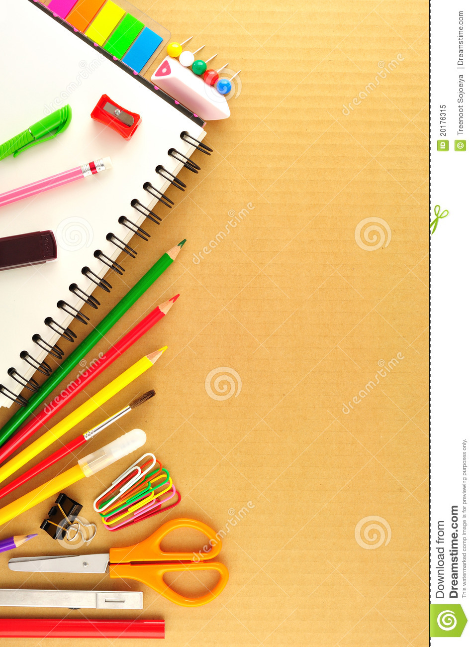 View Of The Office Tools Royalty Free Stock Photo - Image: 20176315