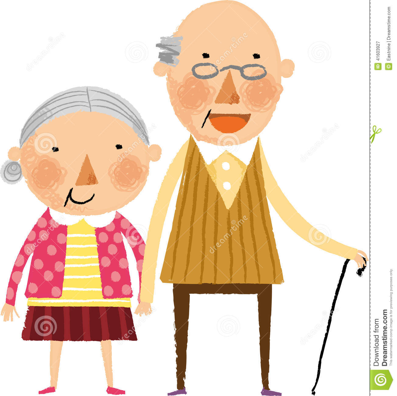 The view of old couple stock illustration. Illustration of ...