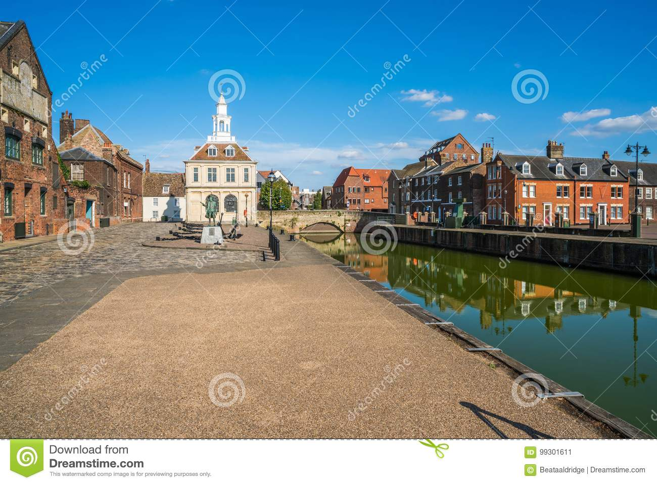 View of the old custom house at King`s Lynn, Norfolk