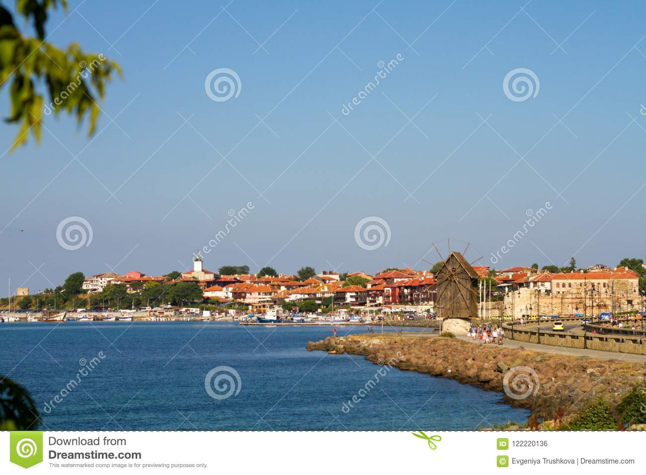 View of Old Town of Nesebar in Bulgaria