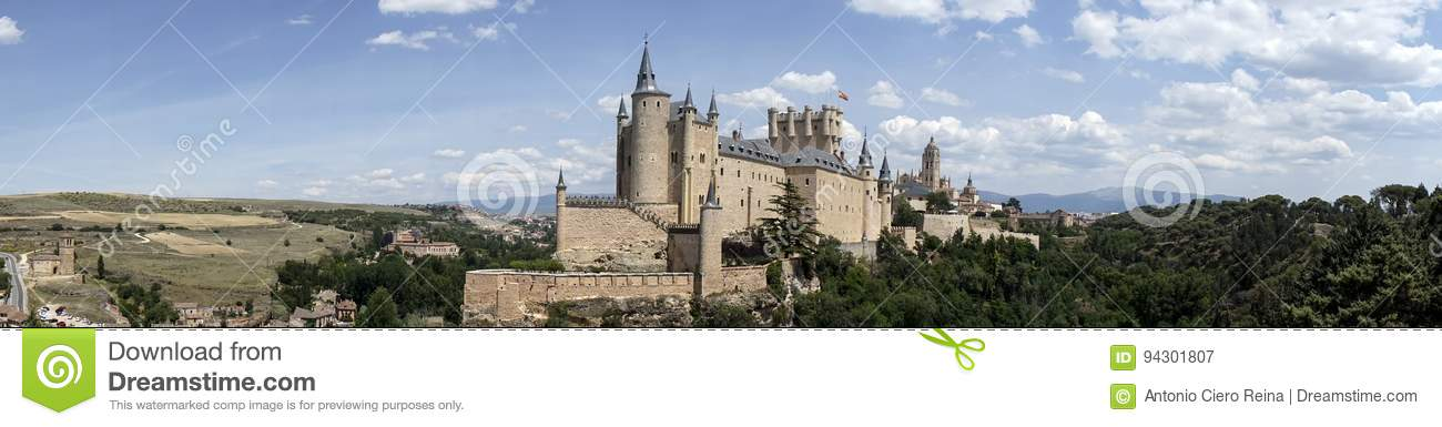 Monuments of the city of Segovia, the Real Alcazar, Spain