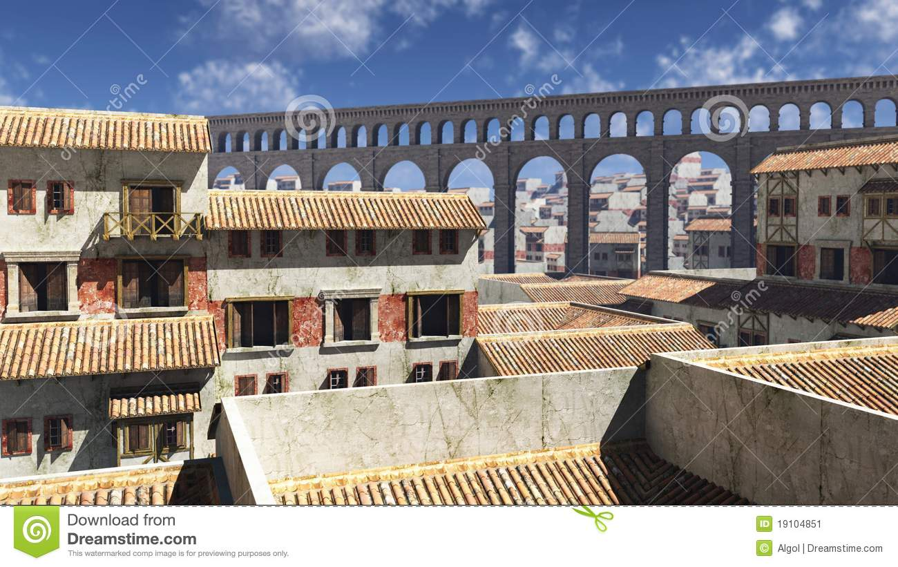 View Over Ancient Roman Rooftops Stock Image Image 19104851
