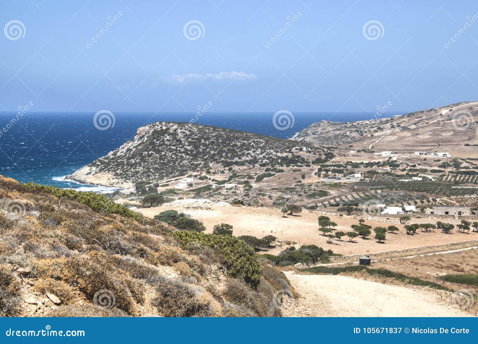 View over Antiparos island, Greece