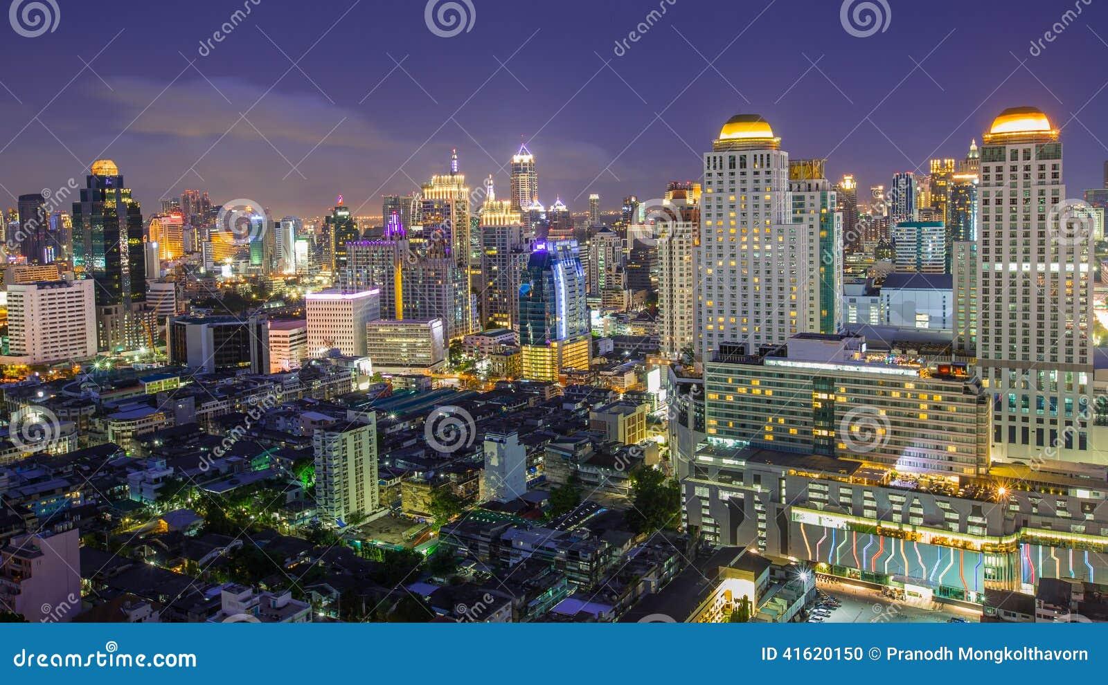 A view over the big asian city of Bangkok