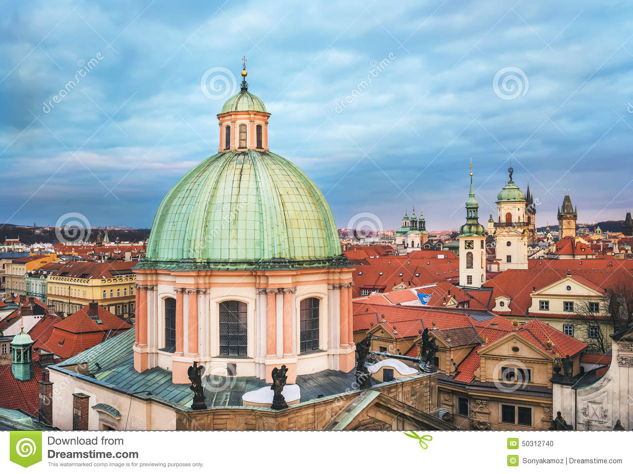 The View Over The Dome Of Saint Francis Of Assisi Church