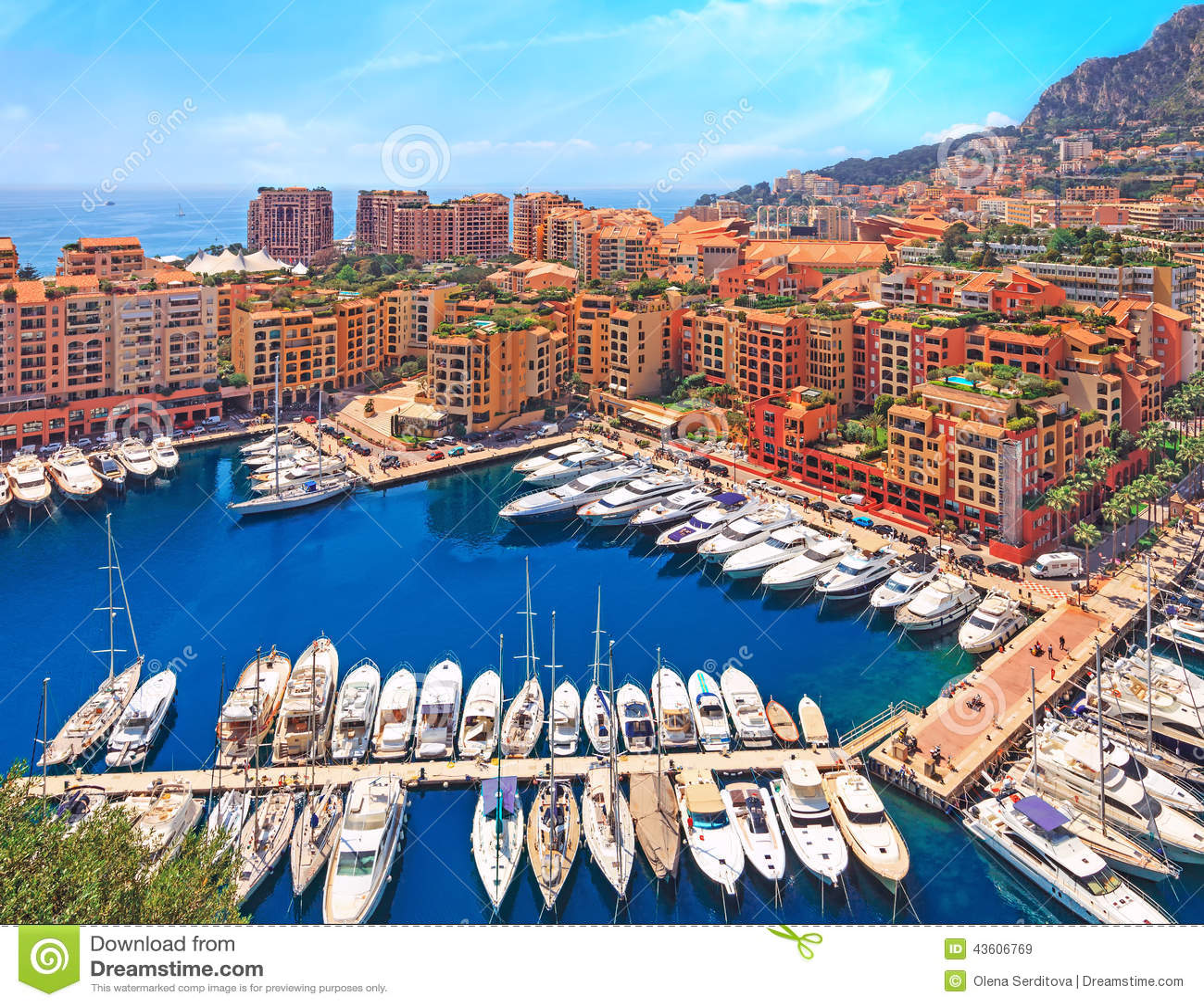 View Over Monaco Harbour Cote D Azur Stock Photo Image