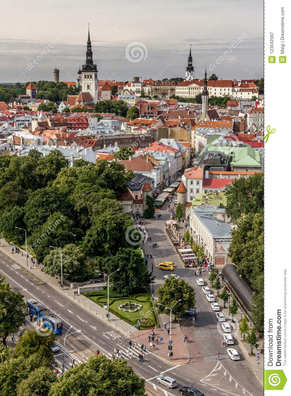 Download View Over Old Town Of Tallinn Stock Image - Image of baltic, rooftops: 123542567
