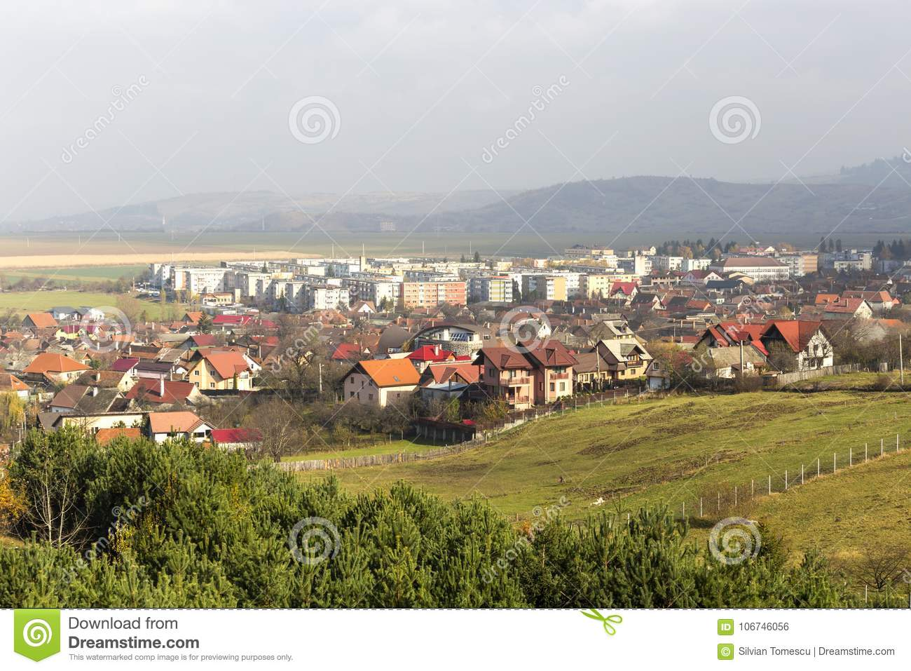 View over sacele city