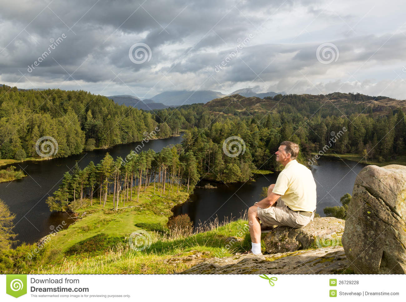 View over tarn hows in english lake district royalty free for How s the fishing