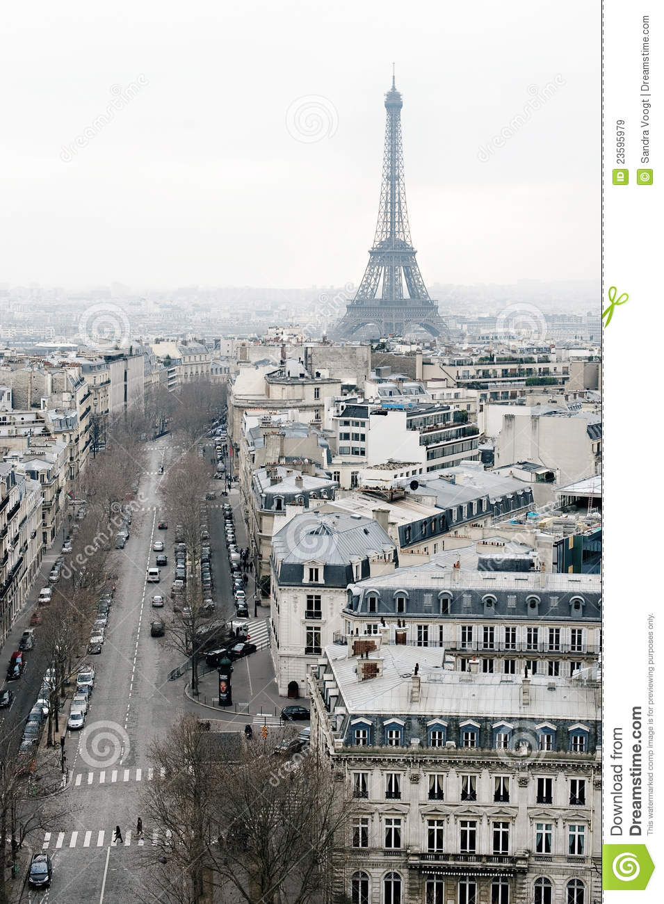 view on paris les champs elysees editorial stock image image 23595979. Black Bedroom Furniture Sets. Home Design Ideas