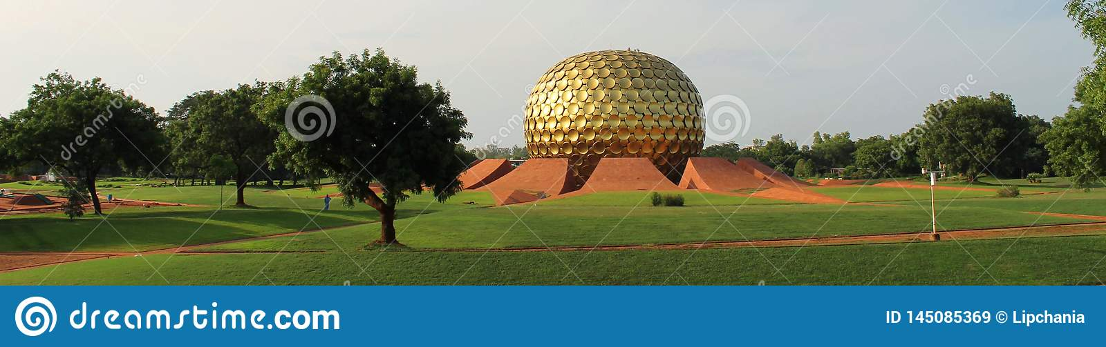 Golden sphere of Auroville, India