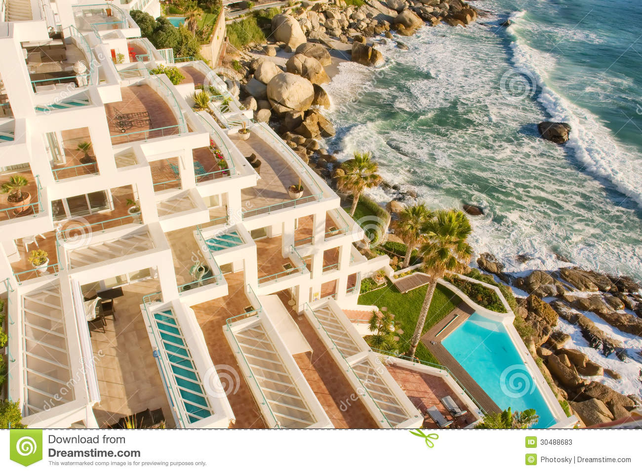 View From Pehthouse At Sunset Beach Stock Image Image Of