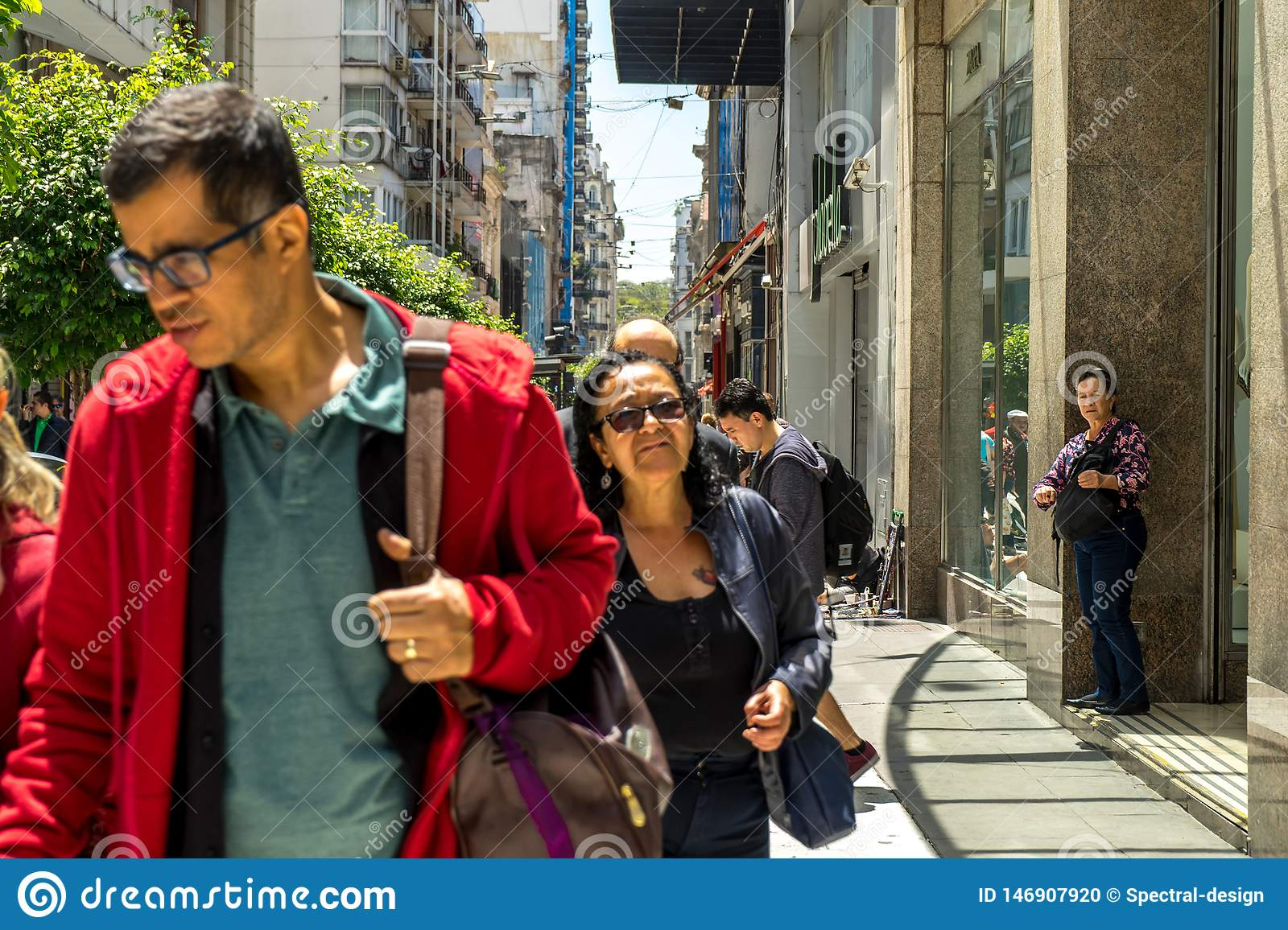 View On People In Buenos Aires In Argentina Editorial Image Image