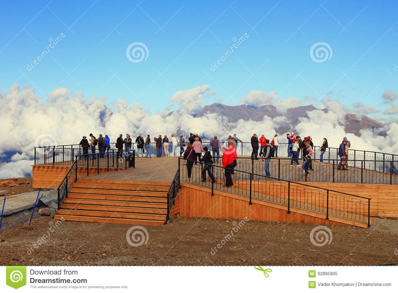 View Point At Top Roza Peak Sochi Krasnodar Krai Russia Editorial Image Image Of Deck Massif 62895905