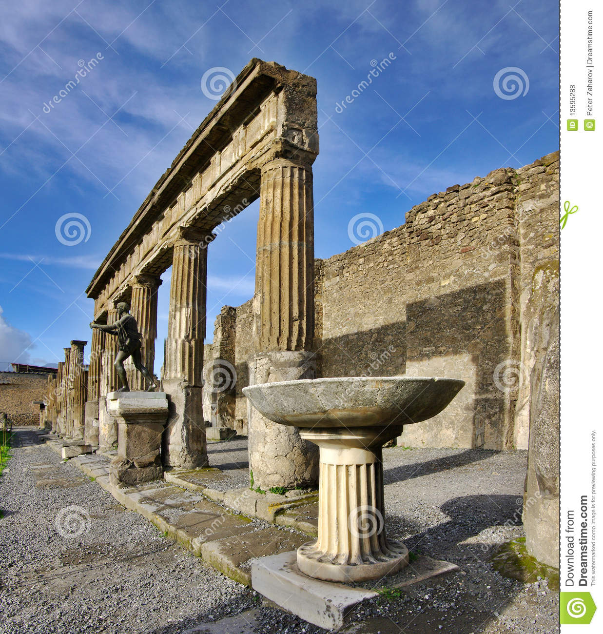 View of Pompeii ruins. Italy.