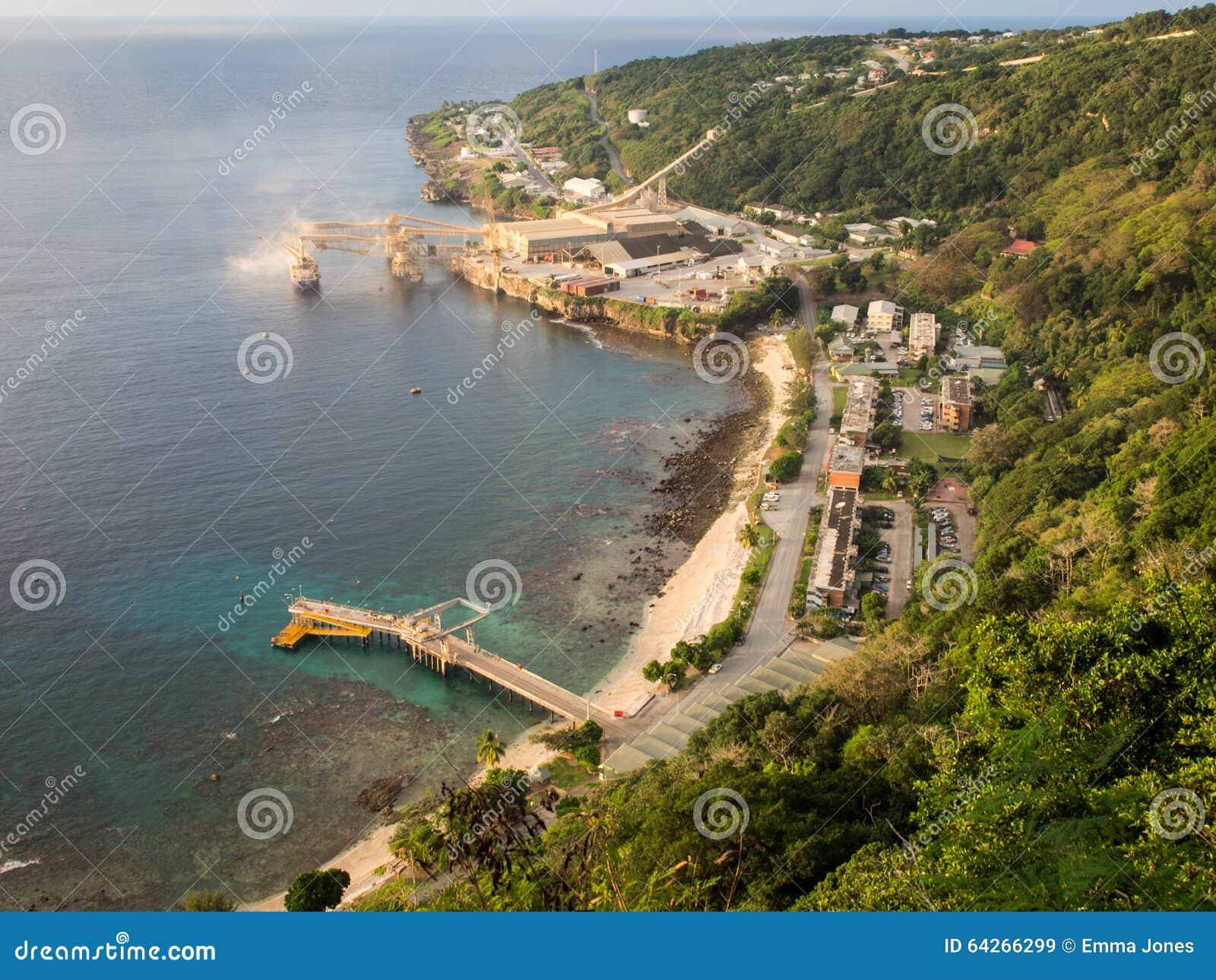 View Of The Port On Christmas Island Australia Stock Image Image