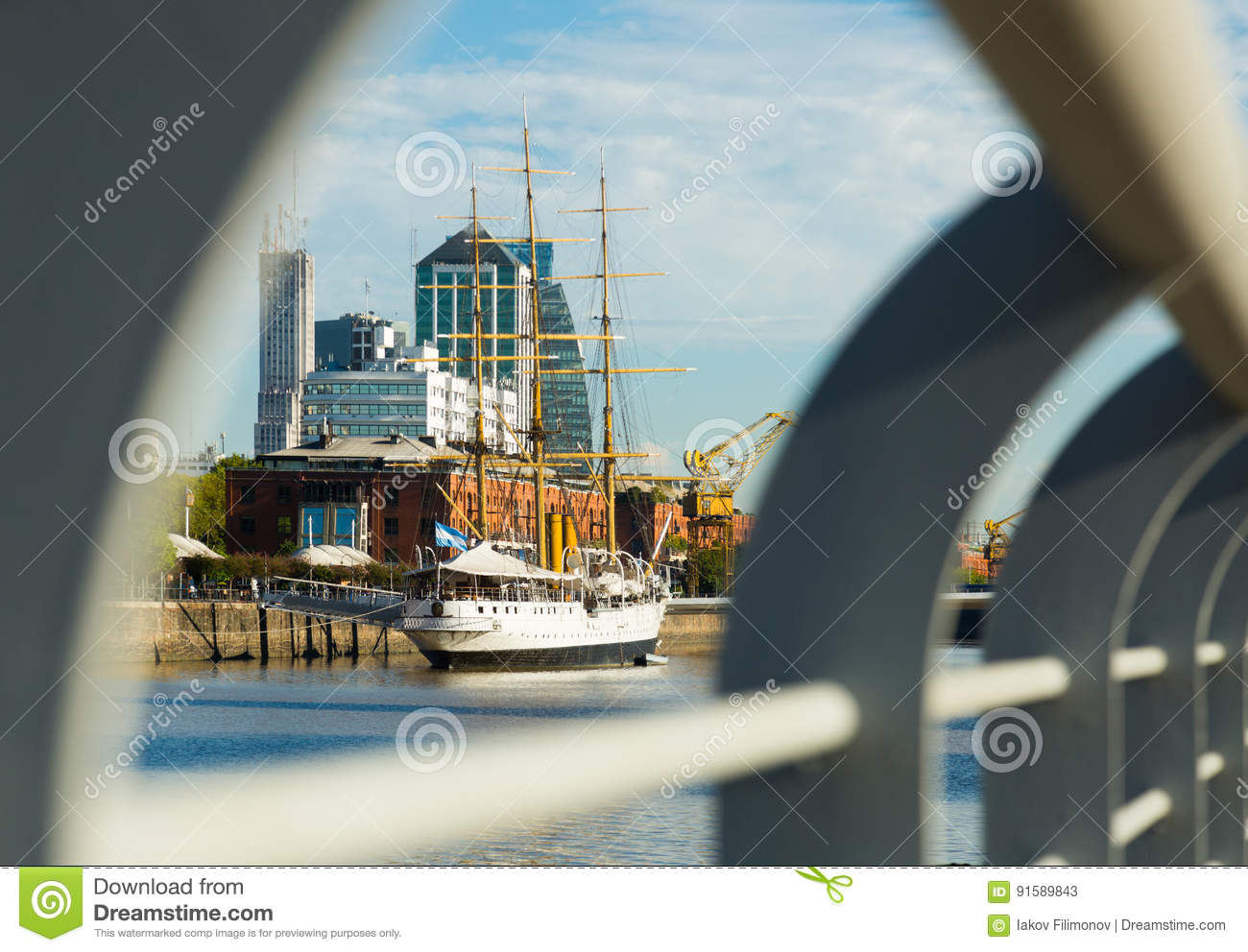 View of port and district Puerto Madero, Buenos Aires