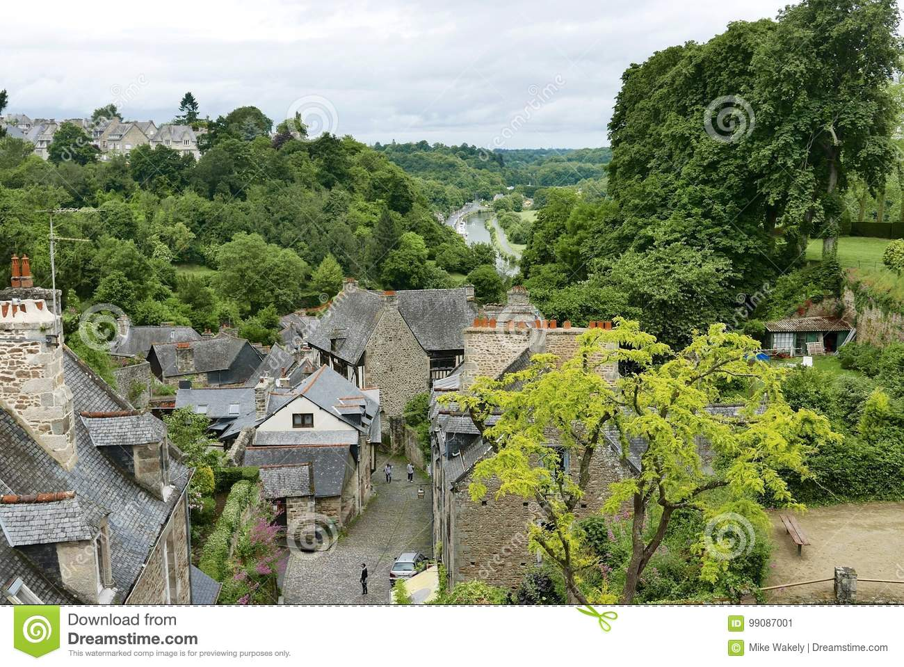 View of port from Dinan