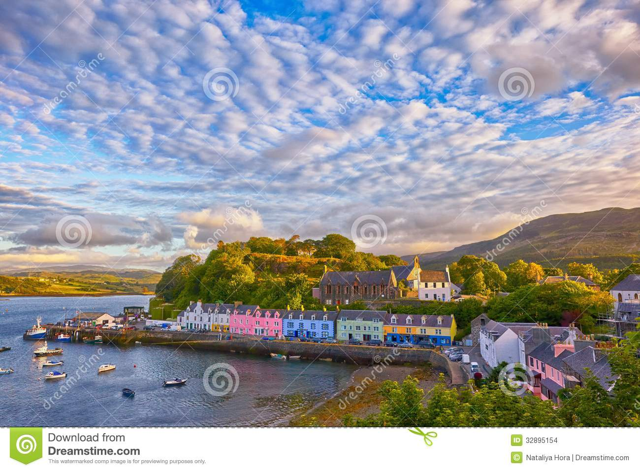 View On Portree, Isle Of Skye, Scotland Stock Images - Image: 32895154