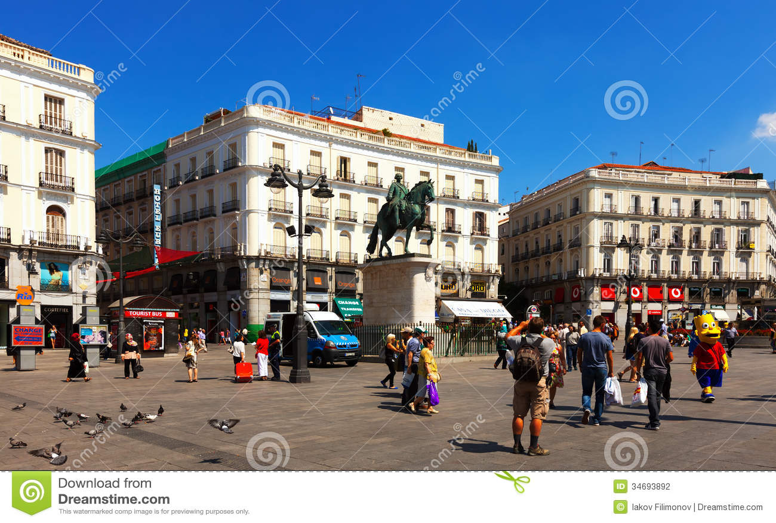 View Of Puerta Del Sol. Madrid, Spain. Editorial ...