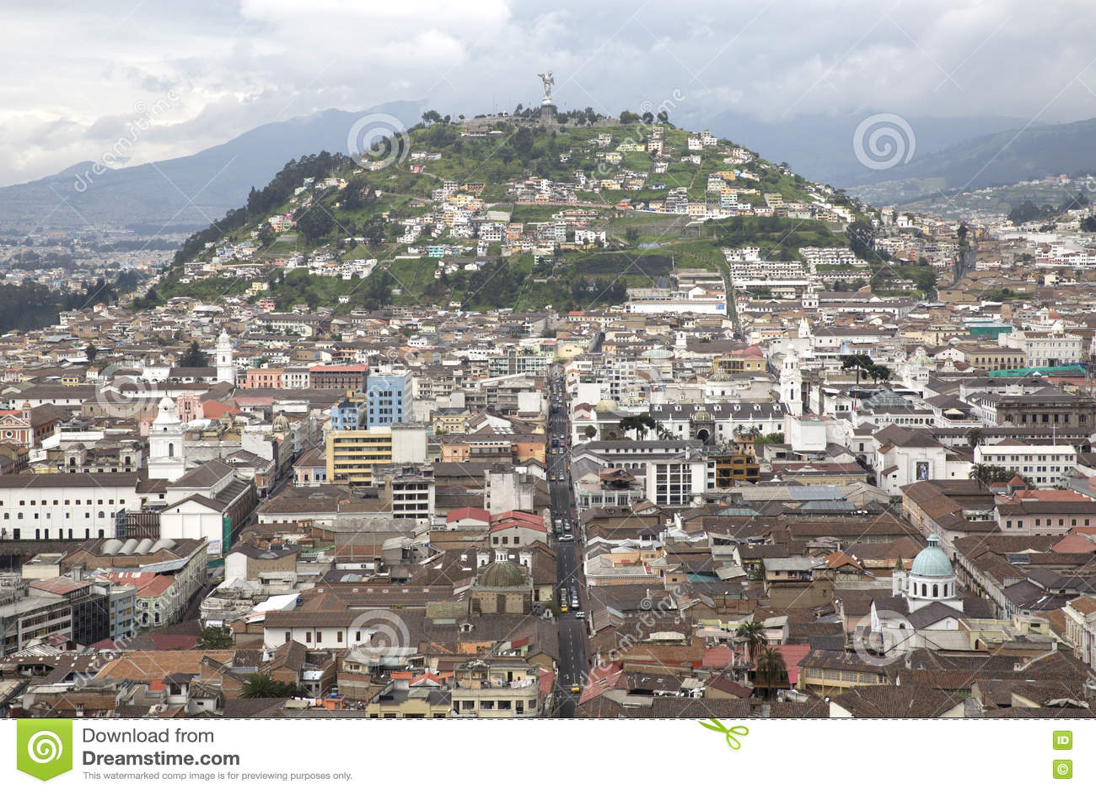 View Of Quito Capital City Of Ecuador Stock Photo Image - Capital of ecuador