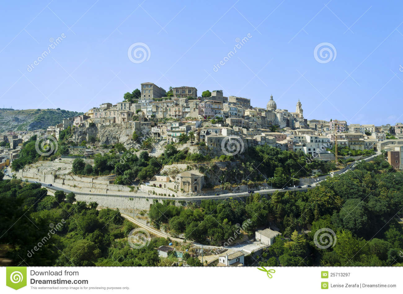 View Of Ragusa Ibla In Sicily Italy Royalty Free Stock Photography Image 25713297