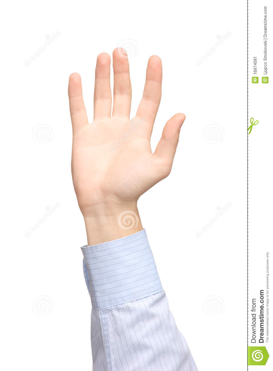 View Of A Raised Hand Stock Image - Image: 16974091