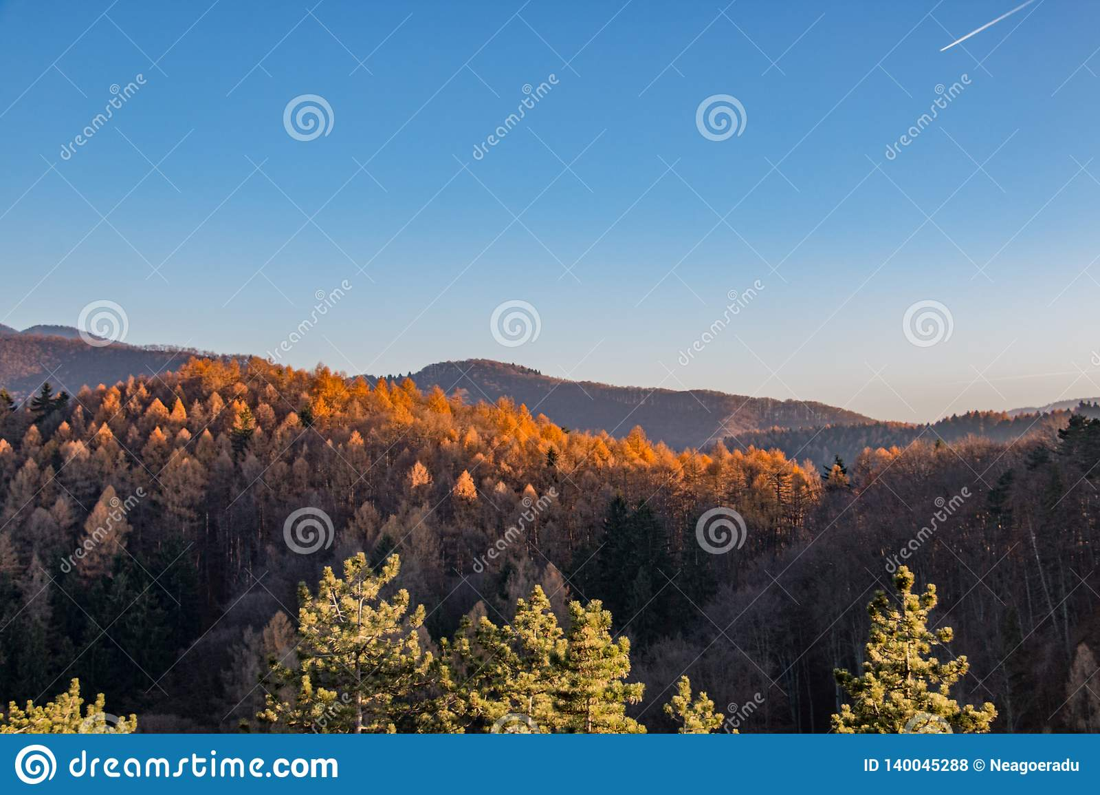 Summer mountains landscape in Transylvania, Romania