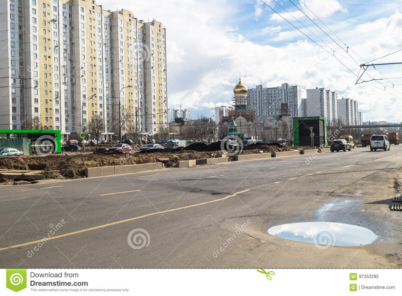 In Moscow, part of Michurinsky Avenue reconstructed for 230 million rubles 50