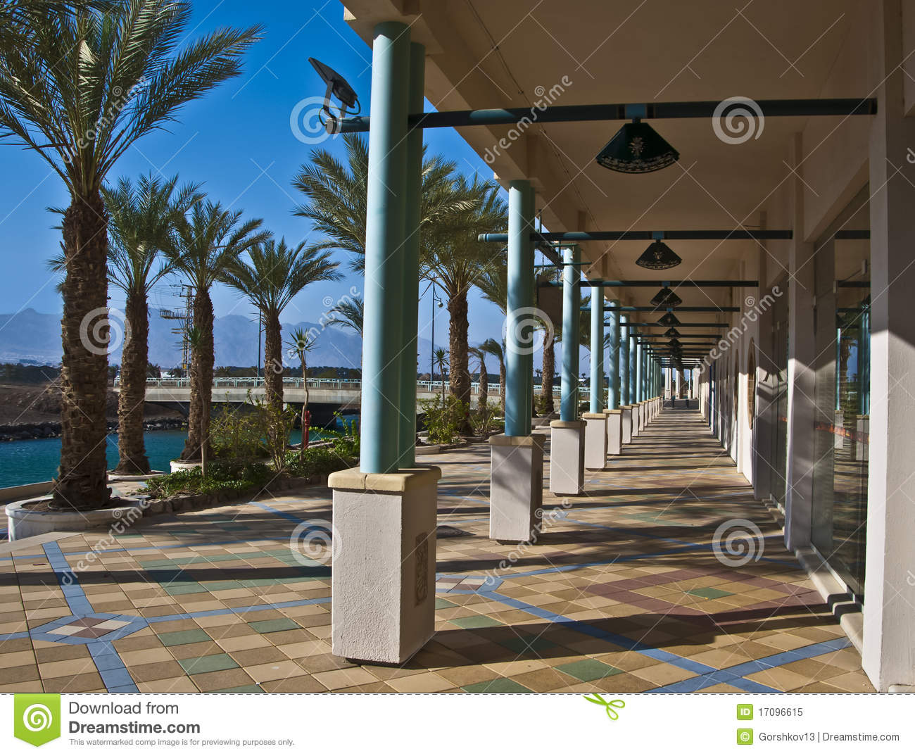 View on resort hotels in Eilat city, Israel