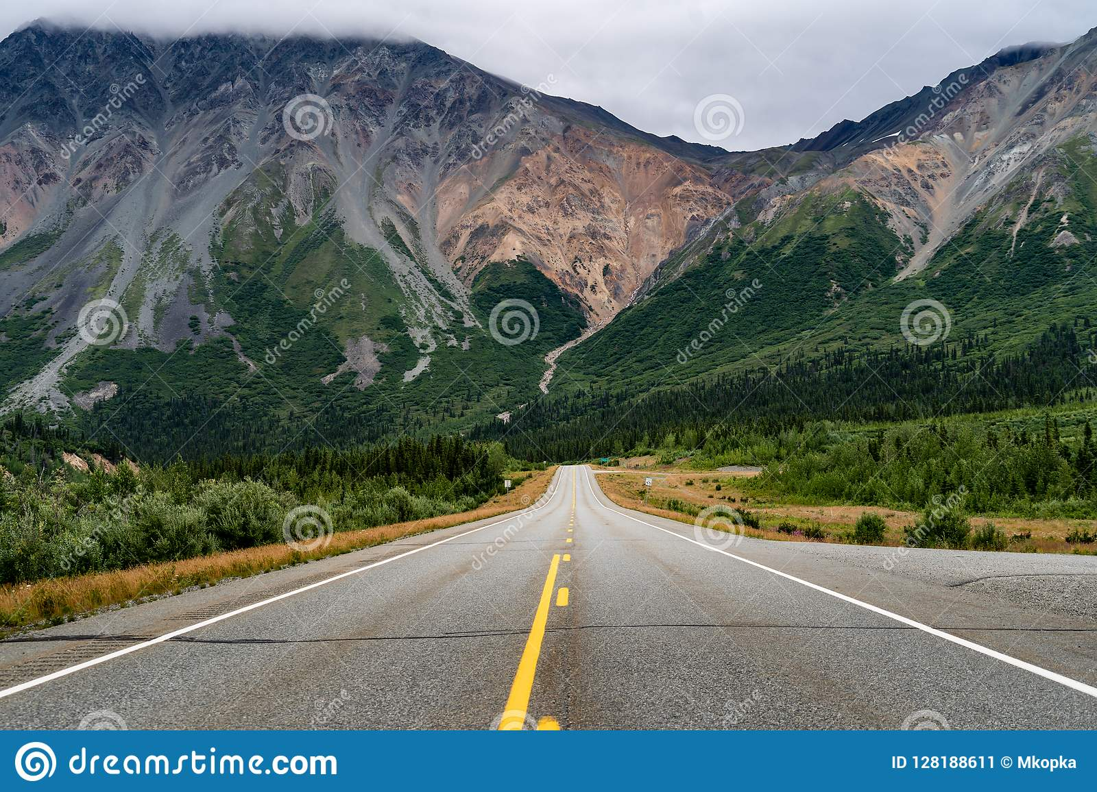 66b22847d View Of The Richardson Highway Near Delta Junction Alaska. Empty ...