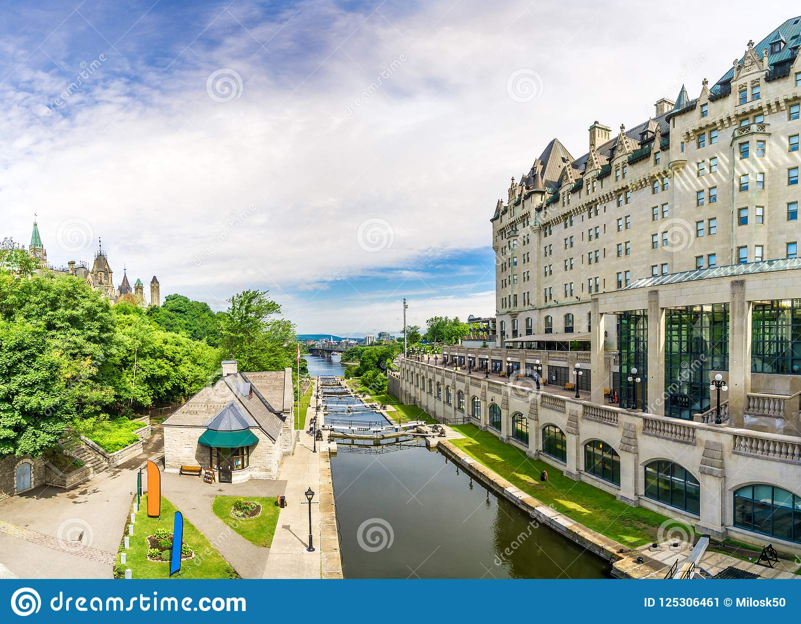 View at the Rideau Canal in Ottawa - Canada
