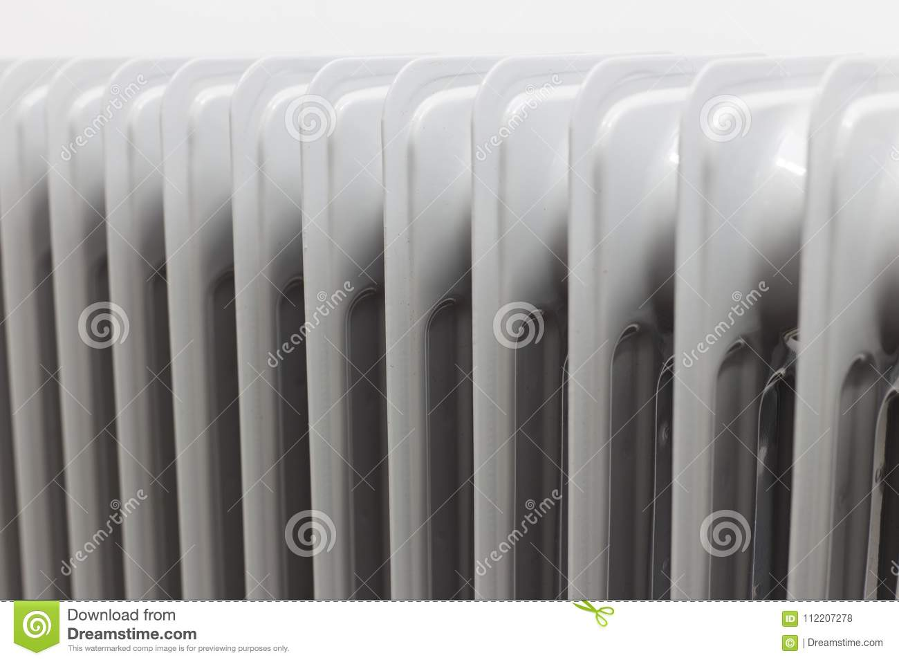 View From Right Horizontal At Oil Electric Radiator Heater On White Background Stock Photo Image Of Interior Control 112207278