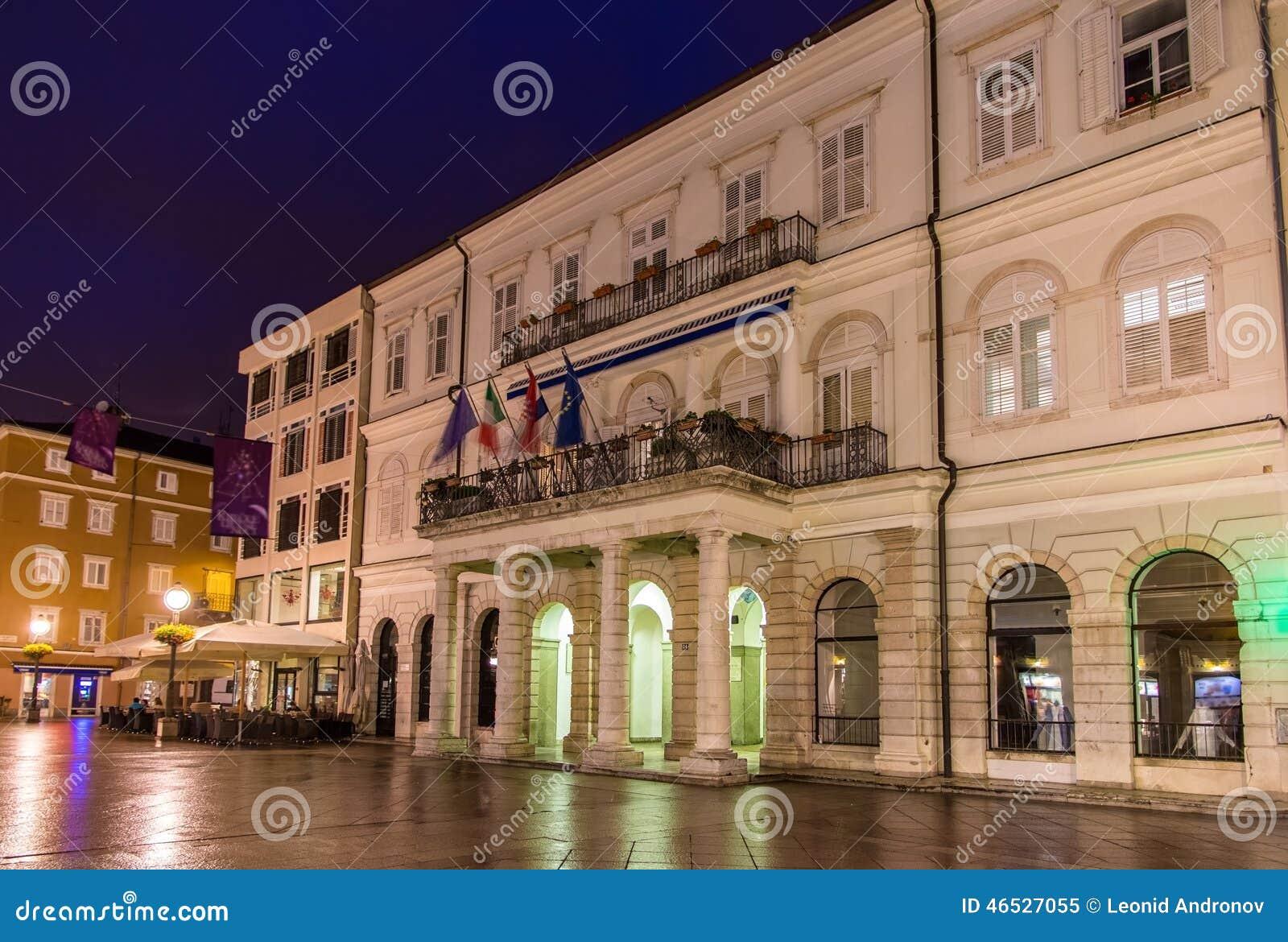 View of Rijeka town hall, Croatia